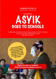 'ASYIK GOES TO SCHOOLS' MARRICKVILLE COUNCIL FREE WORKSHOPS PROGRAM